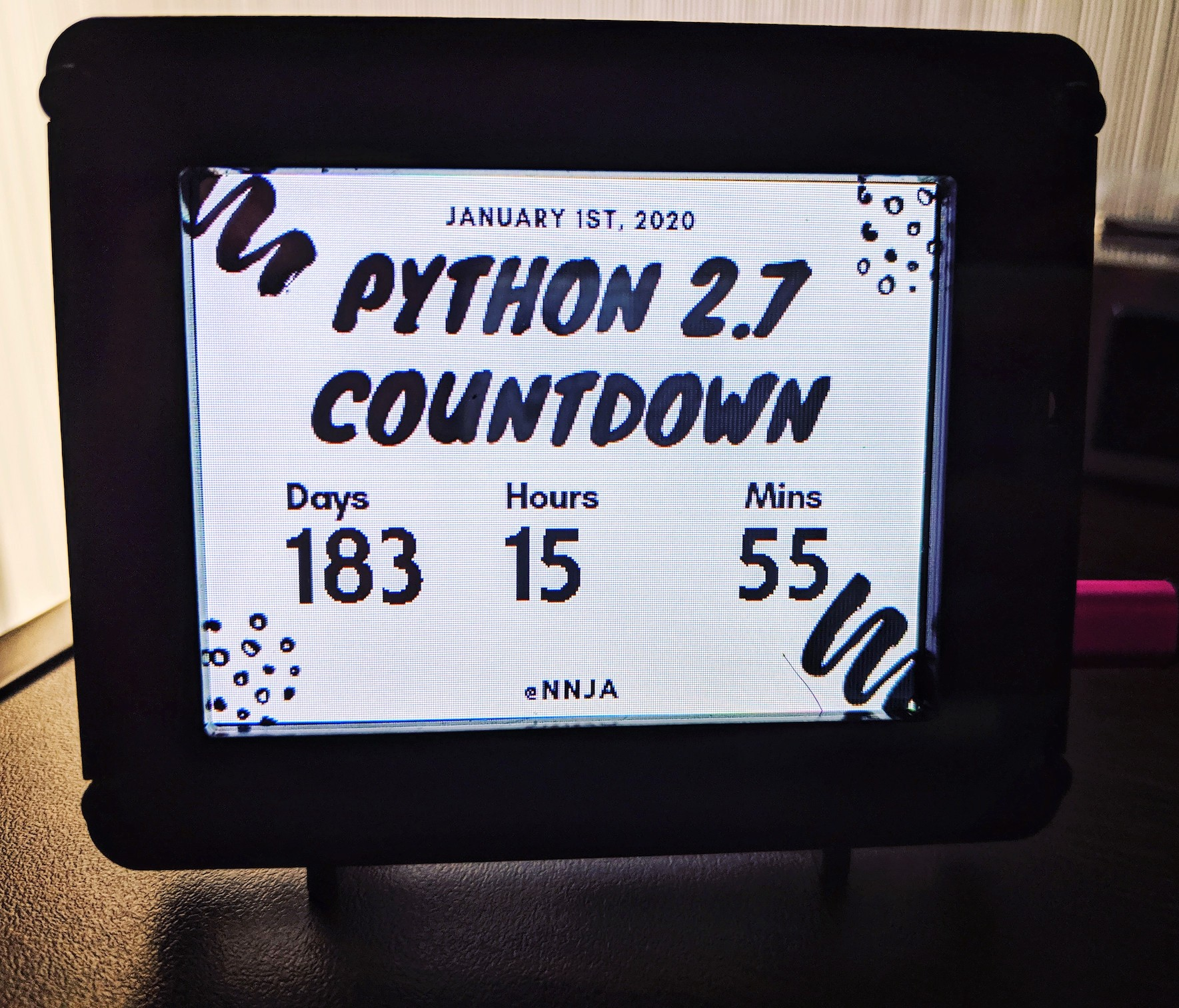 A Desktop Python 2 7 Countdown Timer with CircuitPython and PyPortal